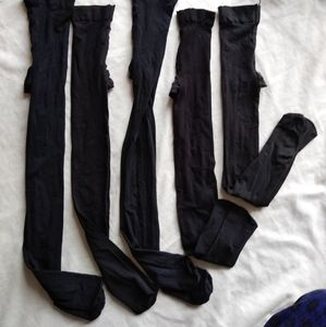 Other - 5 black pantyhose , small sizes
